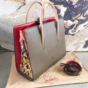 Christian Louboutin Large Paloma GrainLeather Tote